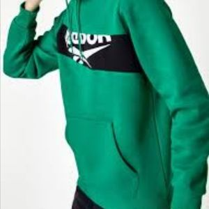 Reebok green hoodie size large
